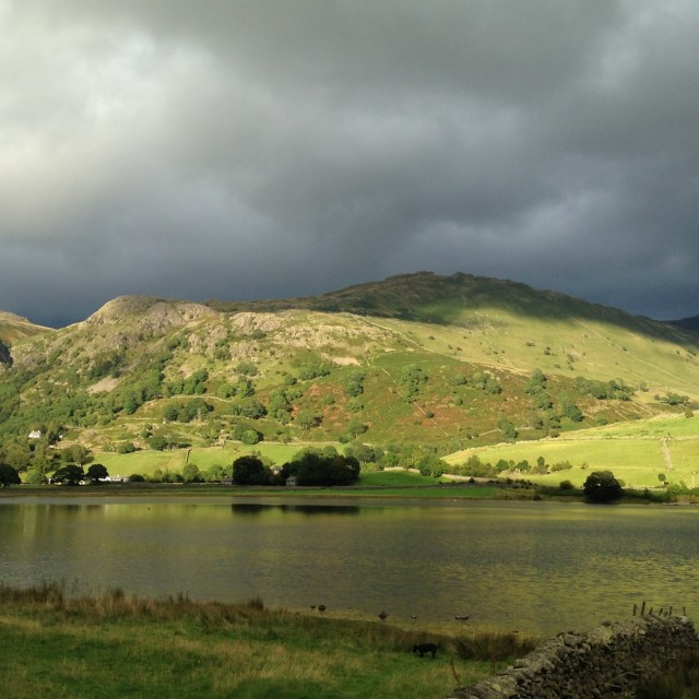"""Brothers Water and Hartsop Fell"" stock image"