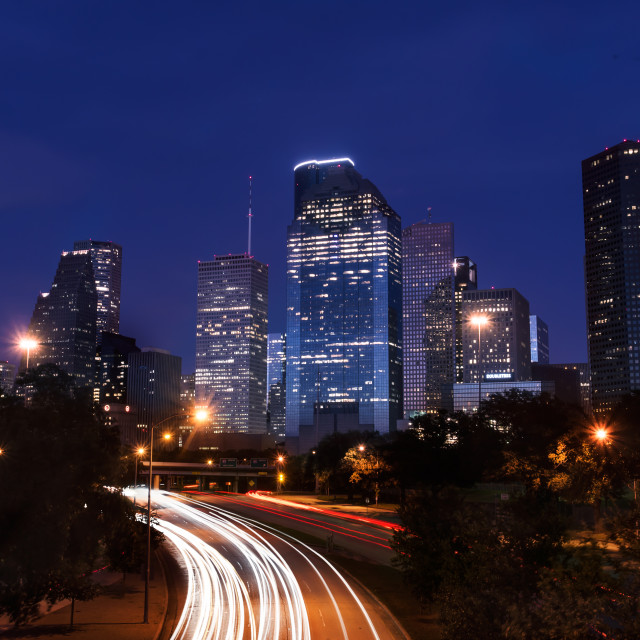 """Houston Downtown"" stock image"