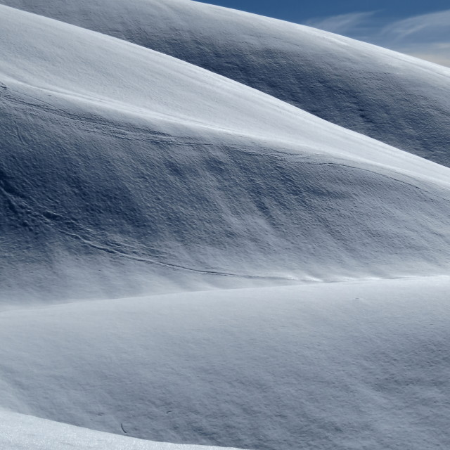 """Snow hills"" stock image"