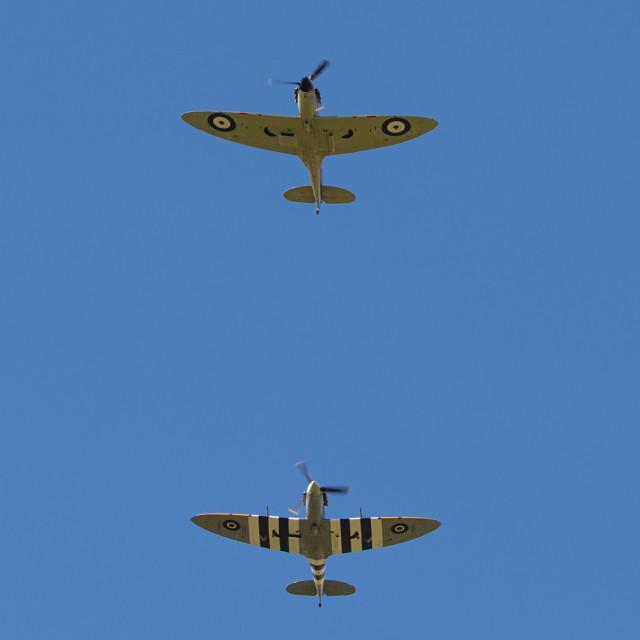 """Battle of Britain Flypast"" stock image"