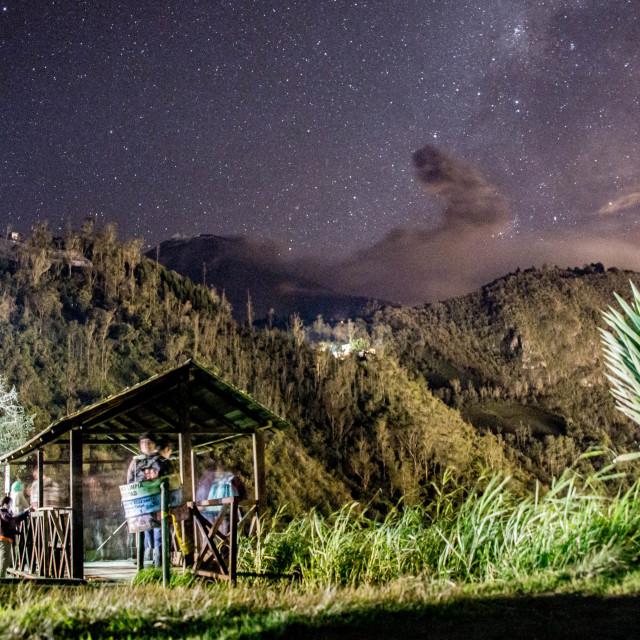 """Volcano Night Sky"" stock image"