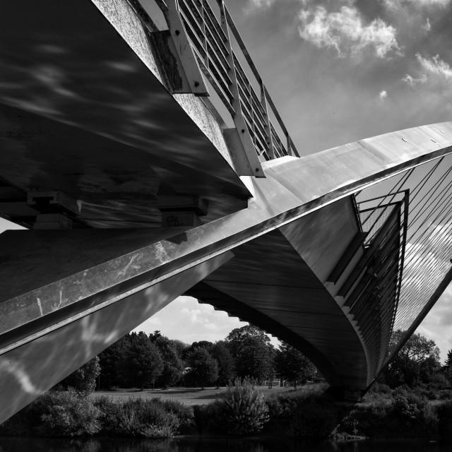"""""""Millennium Bridge - York"""" stock image"""