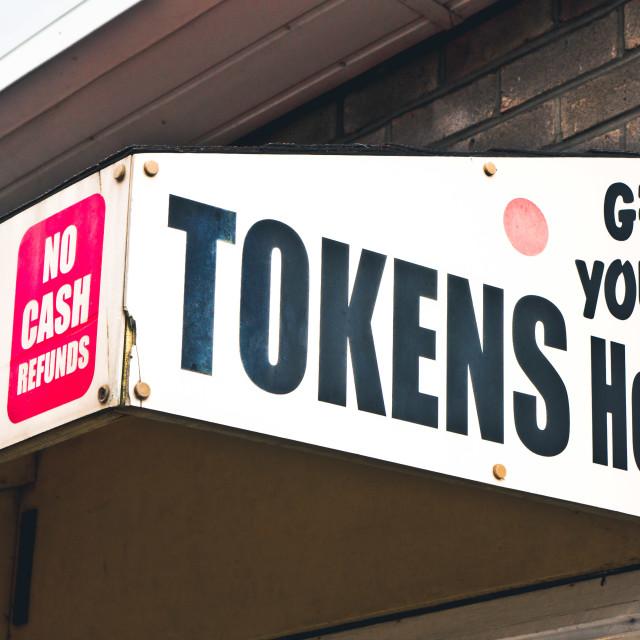 """""""Token kiosk"""" stock image"""