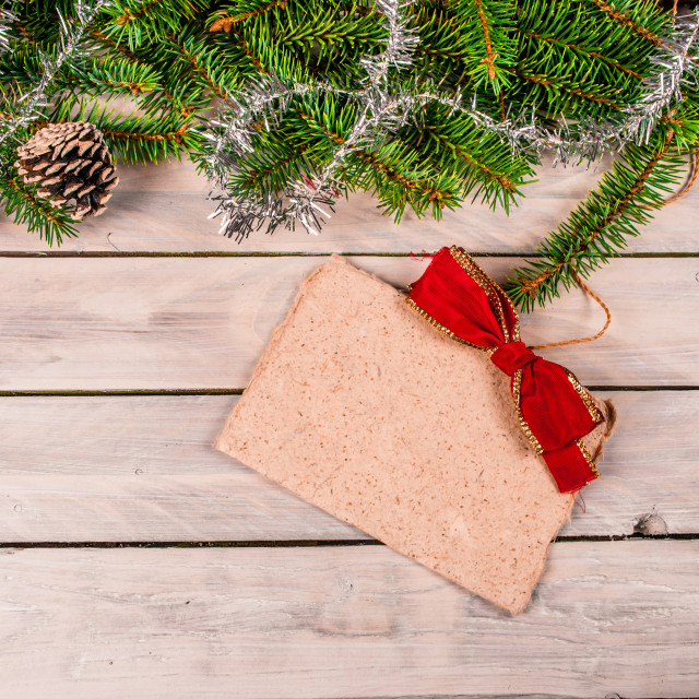 """Christmas greeting on wood"" stock image"