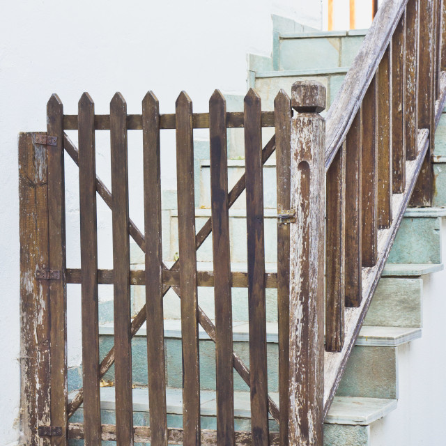 """""""Wooden gate"""" stock image"""