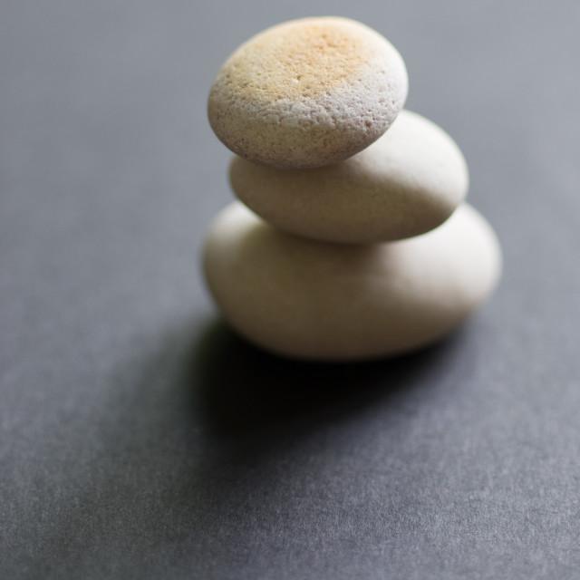 """""""Stone balance"""" stock image"""