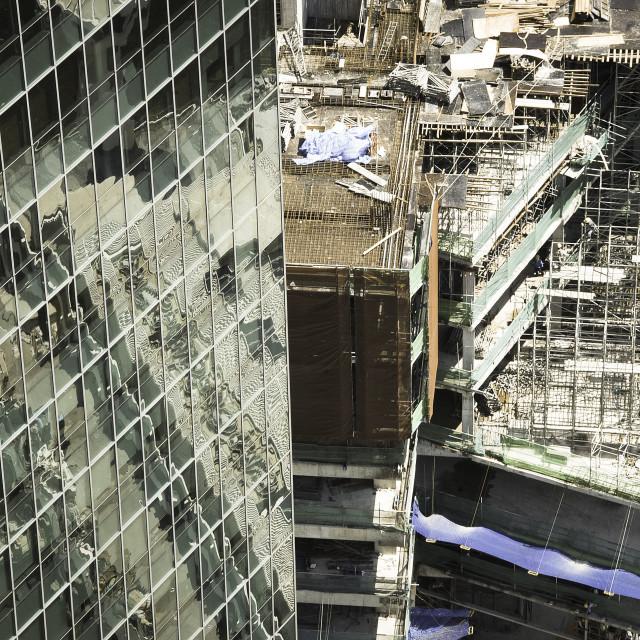 """Construction site Singapore"" stock image"