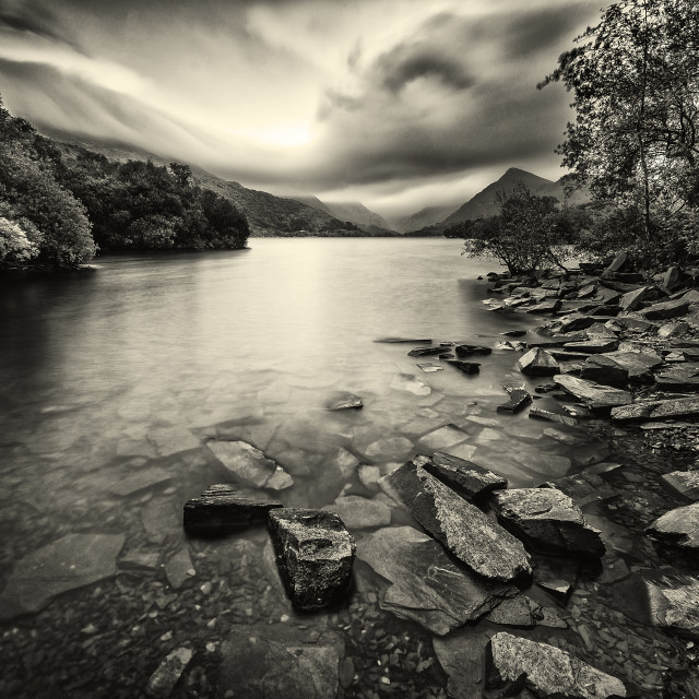 """A lake/ Llyn."" stock image"