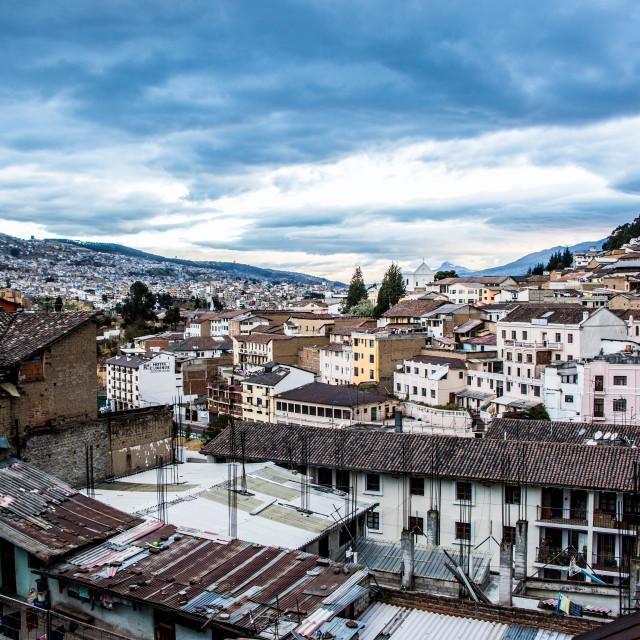 """Quito Rooftop, Ecuador"" stock image"