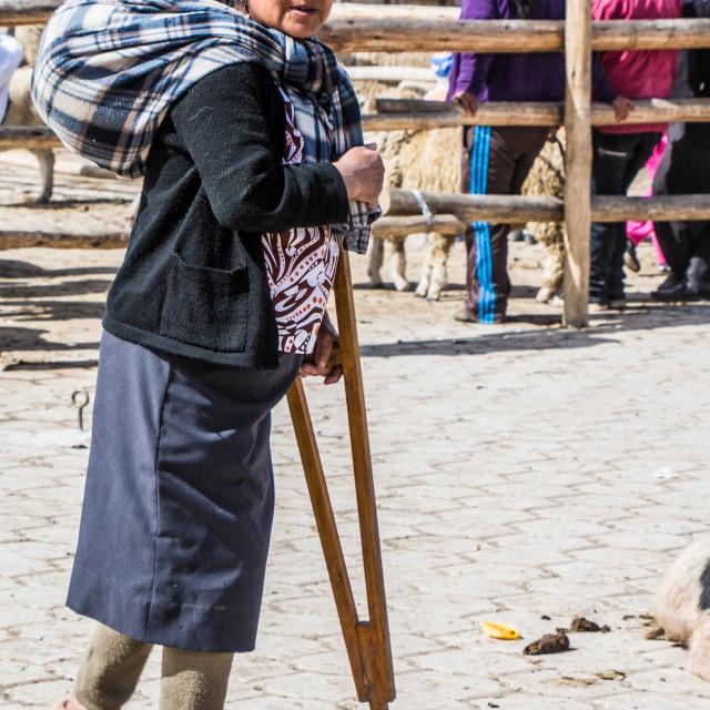 """indigenous Street Portrait, Ecuador"" stock image"
