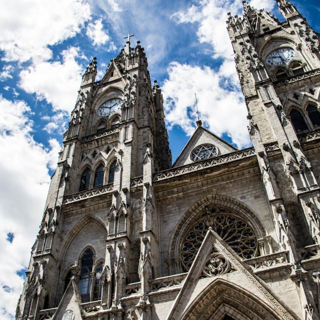 """""""Basílica del Voto Nacional"""" stock image"""