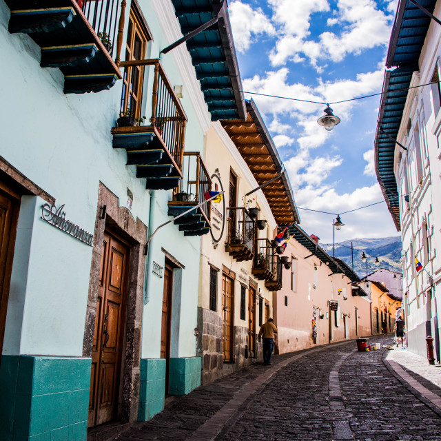 """streets of Quito"" stock image"