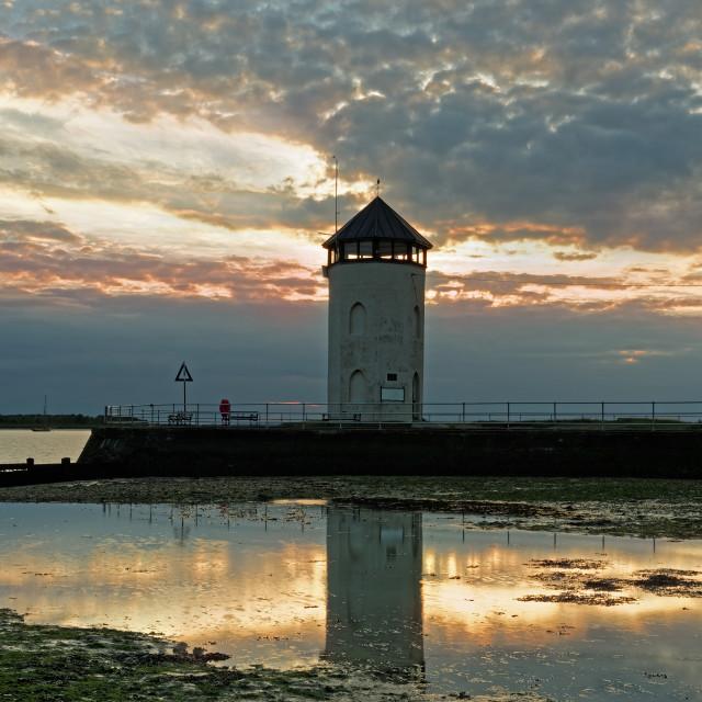 """Bateman's Tower,Brightlingsea,UK at Sunset."" stock image"