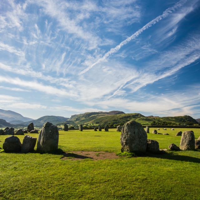 """Castlerigg Stone Circle"" stock image"