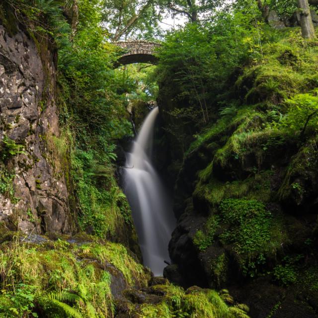 """""""Aira Falls, Keswick, Cumbria"""" stock image"""