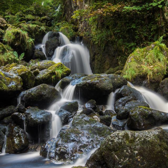 """""""Lodore Falls, Cumbria"""" stock image"""