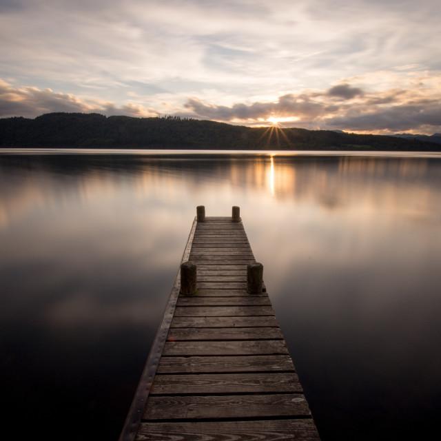 """Lake Windermere Jetty"" stock image"