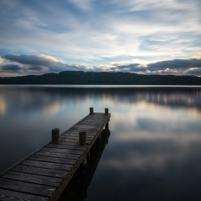 """Lake Windermere Jetty"" stock image"