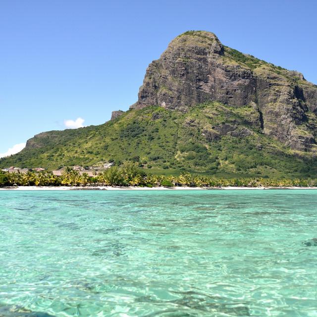 """Le Morne Brabant, Mauritius"" stock image"