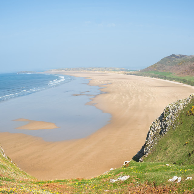 """Rhossili Bay"" stock image"