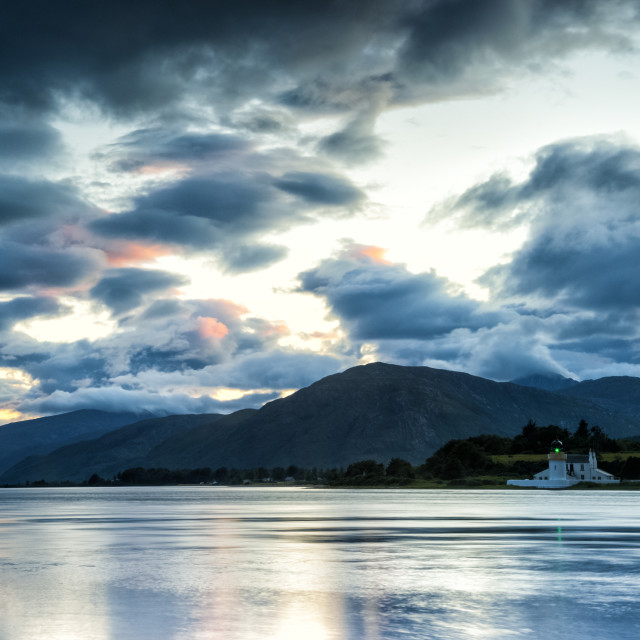 """Corran Narrows in the blue hour."" stock image"