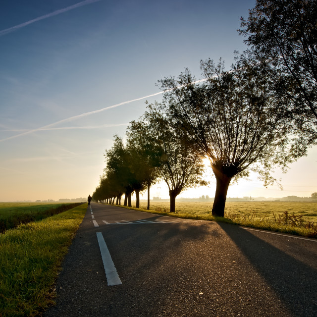 """""""The Long Road"""" stock image"""