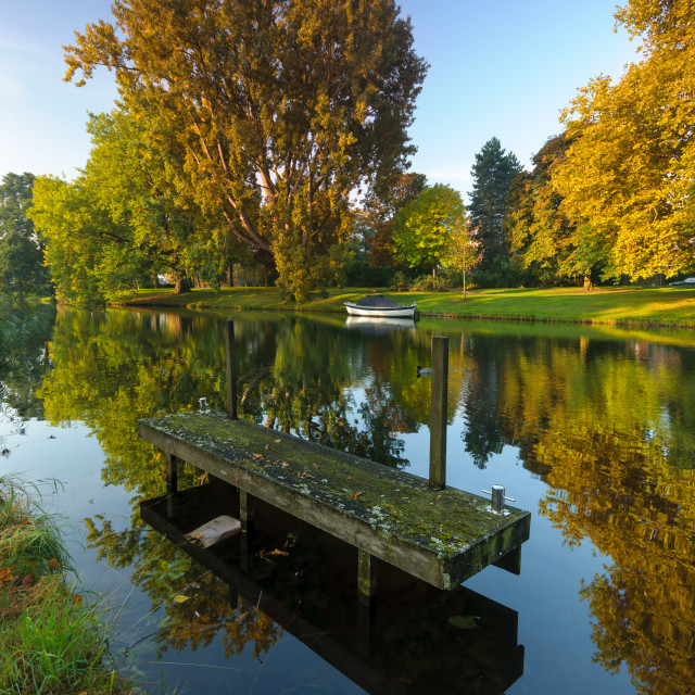 """""""Canals in fall color"""" stock image"""