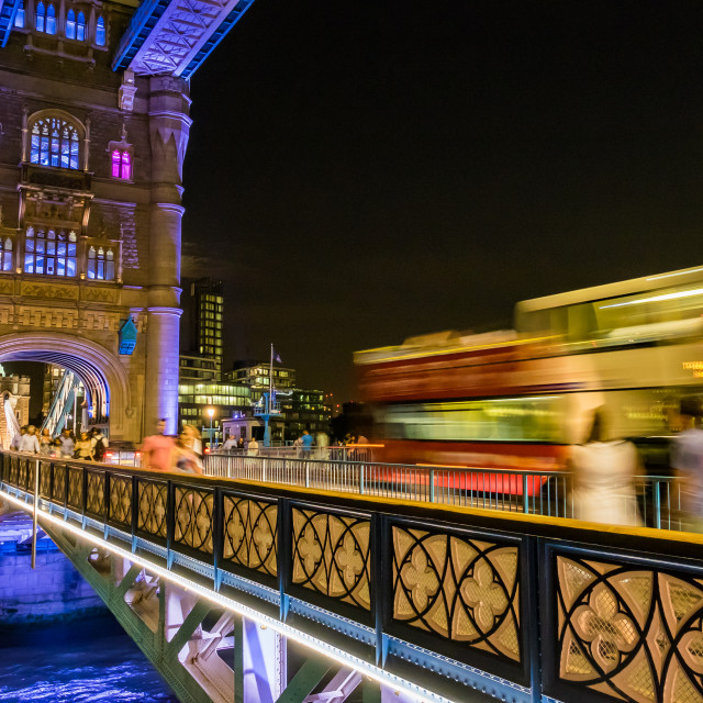"""Tower Bridge At Night. No2."" stock image"