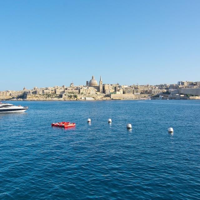 """""""Valletta skyline"""" stock image"""