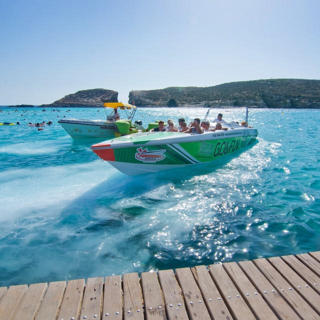 """""""Blue Lagoon Malta"""" stock image"""