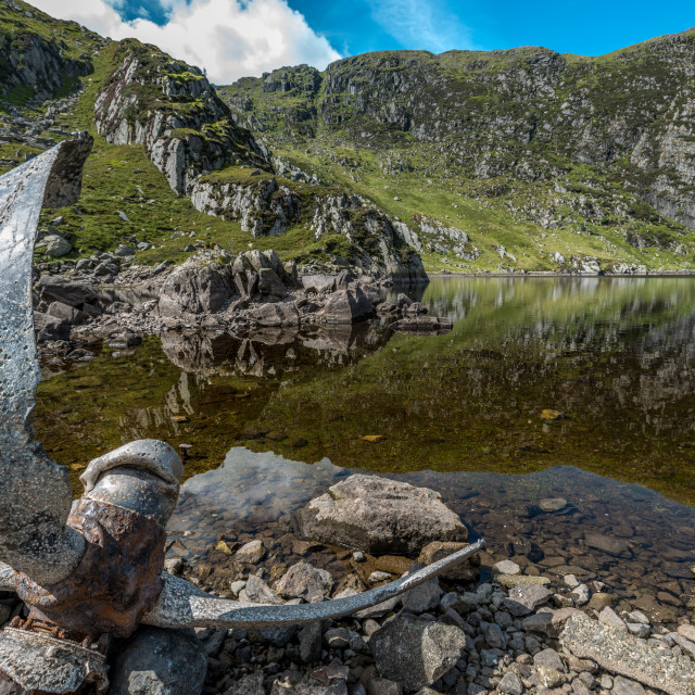 """Llyn Dulyn with Propeller"" stock image"