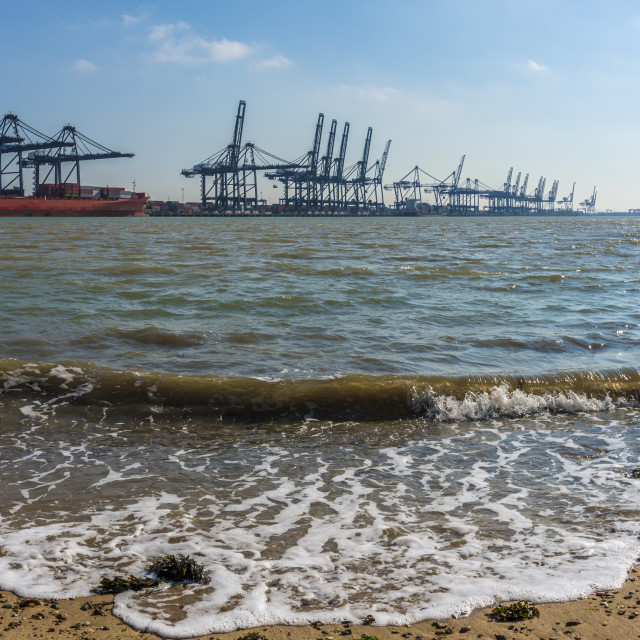 """Container port"" stock image"