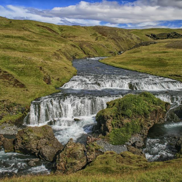 """Skogafoss waterfalls"" stock image"