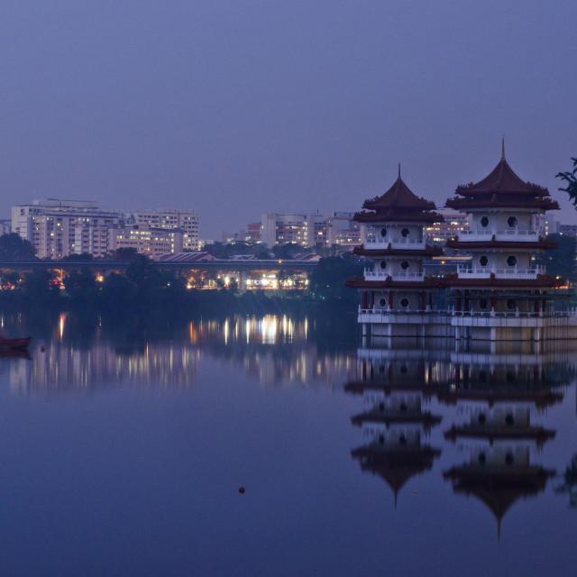 """""""Twin Pagodas"""" stock image"""