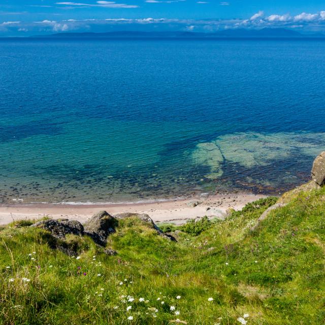 """Bracken Bay - Scotland"" stock image"