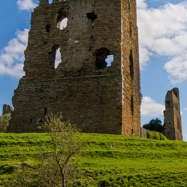 """Sheriff Hutton castle remains"" stock image"