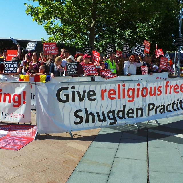 """Dalai Lama Protest"" stock image"