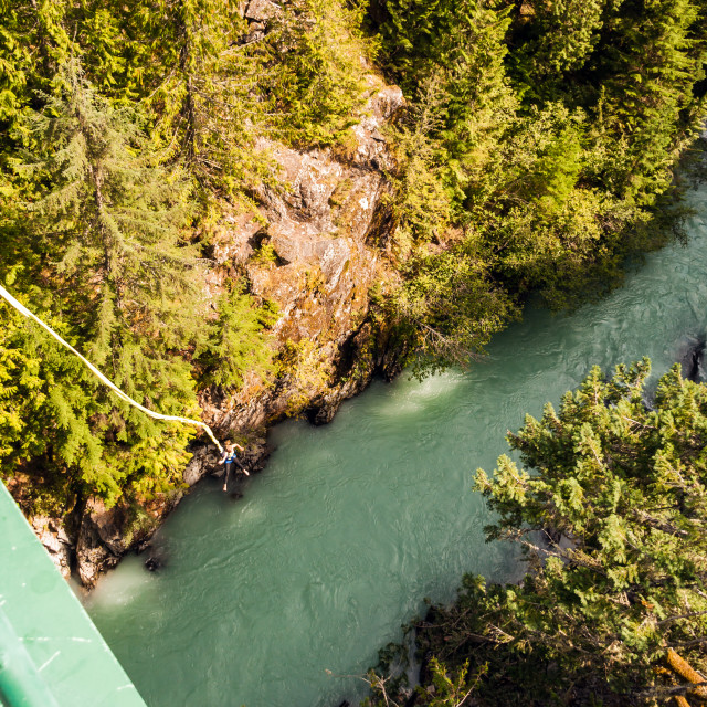 """""""Canada - Bungee Jumping"""" stock image"""