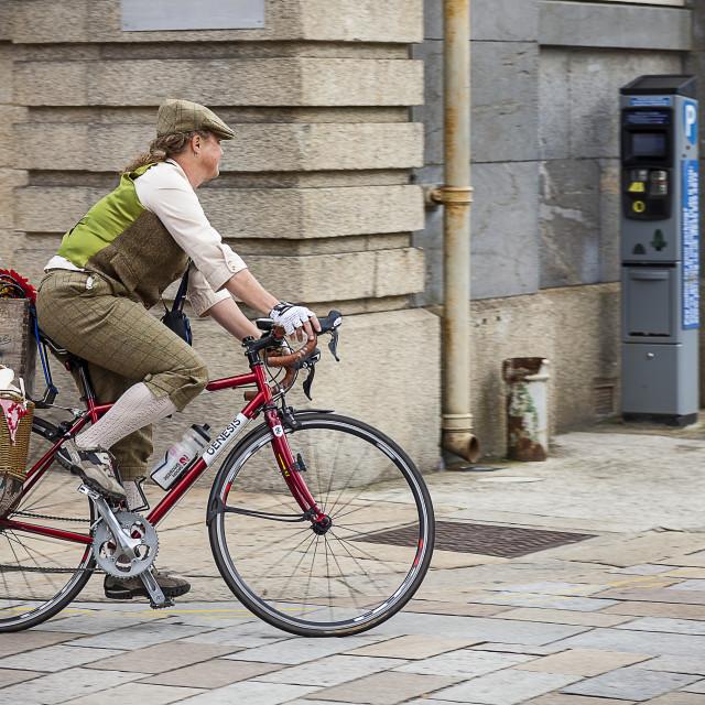 """Retro Cyclist"" stock image"