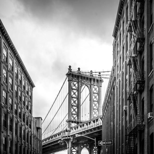 """Manhatten Bridge"" stock image"