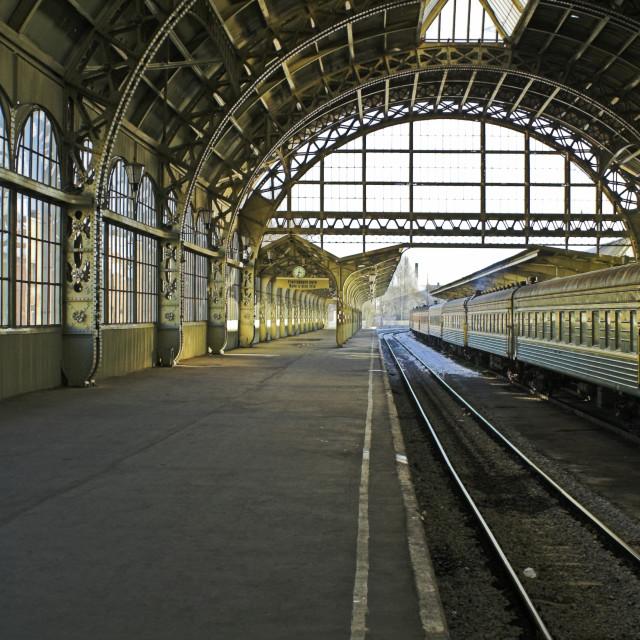 """Railroad station"" stock image"
