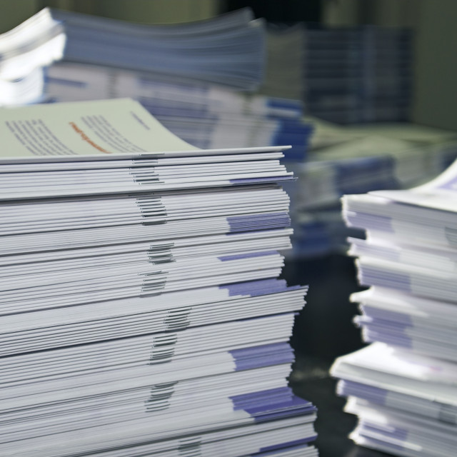 """""""handout papers"""" stock image"""