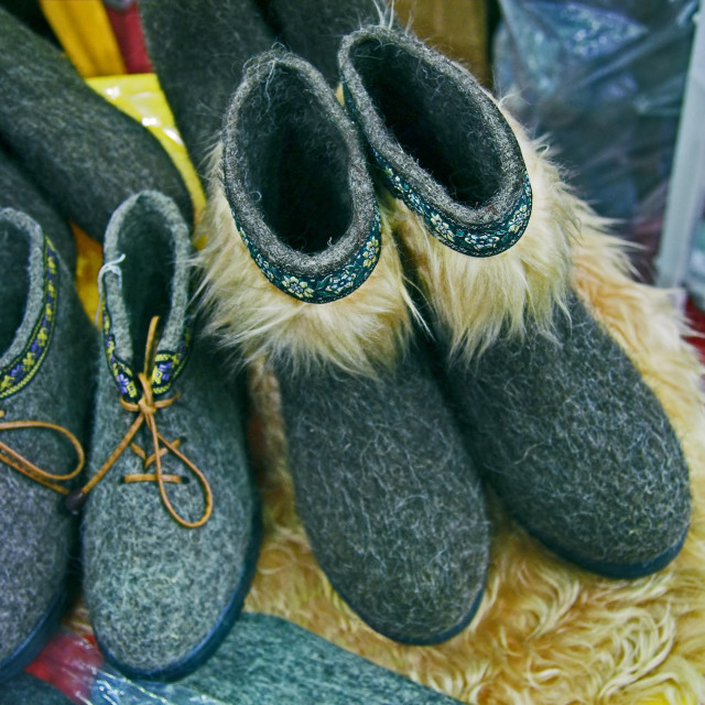 """felted shoes"" stock image"