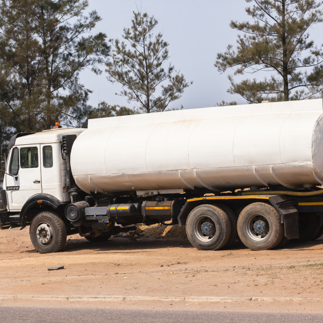 """Truck Water Tanker"" stock image"