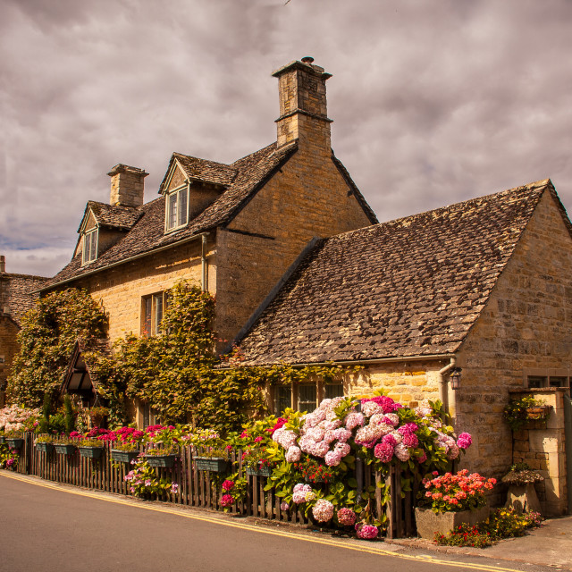"""Cotswold Cottage"" stock image"