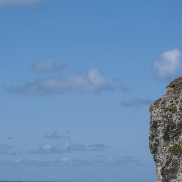 """Sea, sky and rock"" stock image"