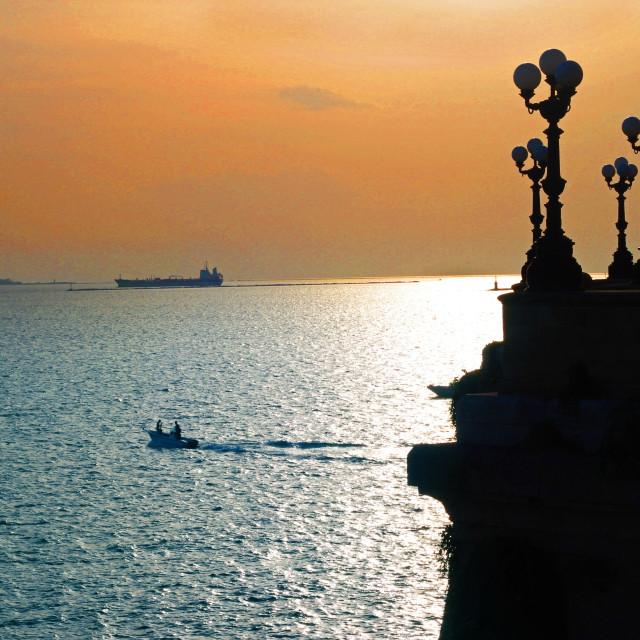 """Sunset on the Sea"" stock image"
