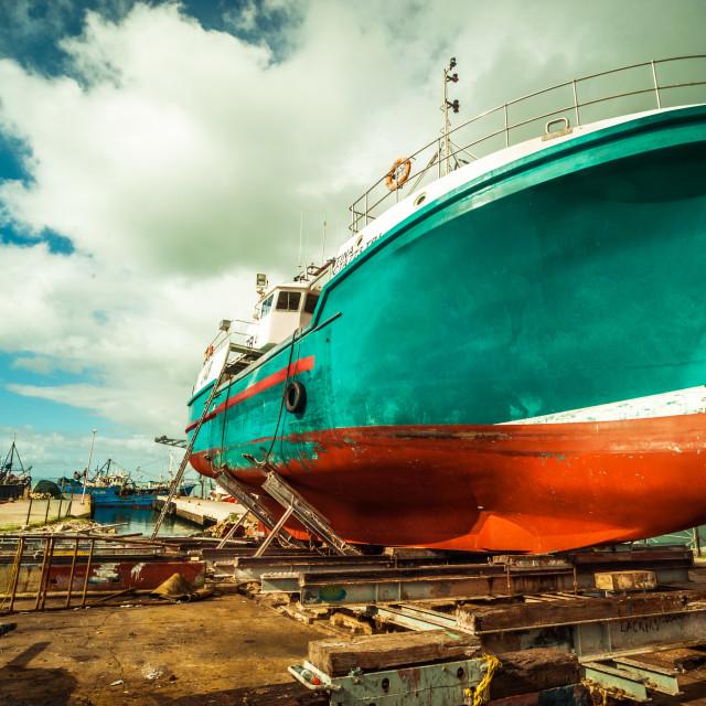 """Ship maintenance"" stock image"