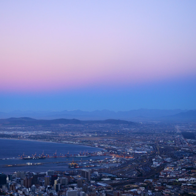 """""""Cape Town in Pink 2"""" stock image"""