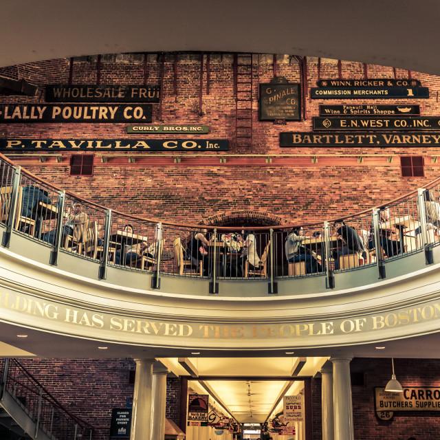 """""""Quincy Market Boston"""" stock image"""